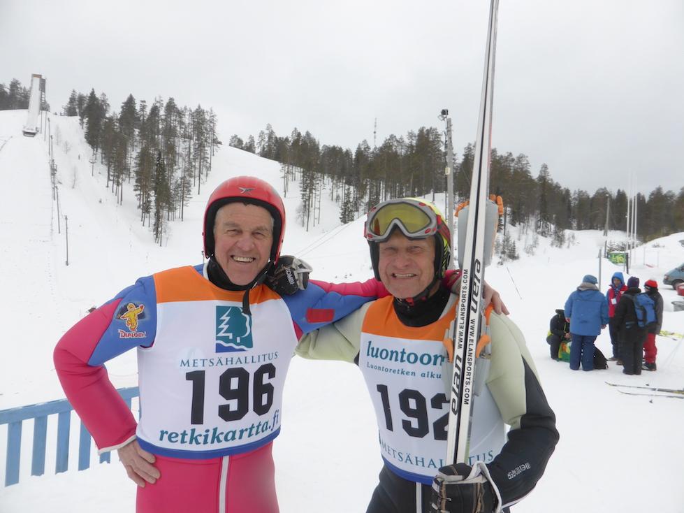 Per Birger og Jan Willy Oskal som er leiar av Veteranhopp Norge